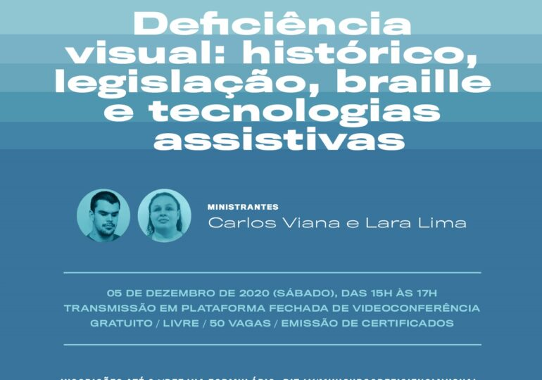Centro Dragão do Mar abre inscrições para minicurso gratuito sobre tecnologias assistivas para deficiência visual