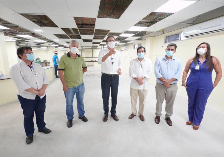 Em visita à nova ala do Leonardo da Vinci, governador projeta 1.074 UTIs para Covid em março