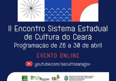 Secult realiza II Encontro do Sistema Estadual de Cultura online, com programação de 26 a 30 de abril